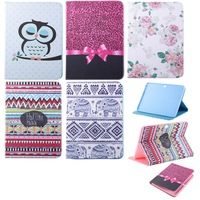 Fashion Flower Series PU Leather Stand Holder Cover Case For Samsung Galaxy Tab4 Tab 4 T530 t531 10.1'' Bird & Nation