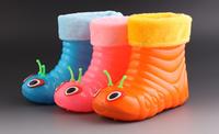 spring autumn winter Child plus cotton warm rainboots children cartoon non-slip water shoes fashion unisex snow boots A716