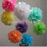 Free shipping 20pcs 25cm/10'' Tissue Paper Pom Poms Wedding Party Baby Shower Nursery Festival Decoration