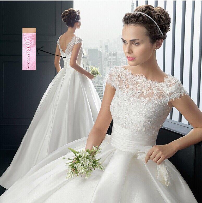 2015 bustierquailty blanc, ivoire, sweetheart mariée robe de mariée formelle robe manches en dentelle avec la livraison gratuite
