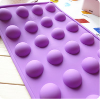 10 Pieces 24 Ball Shape 2014 New Cake Chocolate Jerry Pudding Handmade Soap Moulds Inadhesion Eco-friendly Silicone