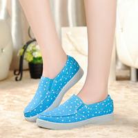 Beijing cotton-made 2014 autumn shoes women's shoes light platform single shoes soft outsole casual flat