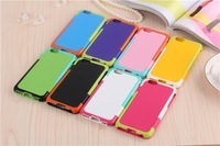 """50 pcs/lot Fashion Korea Style Walnutt colorful hybird TPU+PC Shockproof Soft Back Cover Case for iphone 6 4.7"""" and iphone 6 plu"""