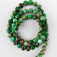 Q0865 Free Shopping Beautiful Trendy Sea Sediment Jasper loose bead (6mm)1 strip