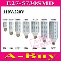 1Pcs E27 B22 E14 5730 SMD LED Corn Bulb AC 220V AC 110V 7W 12W 15W 25W 30W 40W 50W High Luminous Spotlight LED Lamp Light
