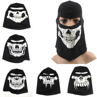 Skull Head Mask Outdoor Sports Balaclava Hood Face Mask Full Face Mask Soft Warm Mask for Hiking Cycling Skiing