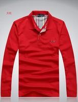 Free shipping 13 color design t shirt 2014 New Arrival Mens Tops Tees Long sleeve t-shirt men's Cotton t-shirt men shirt