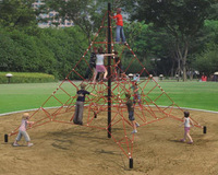 outdoor rope climbing hill