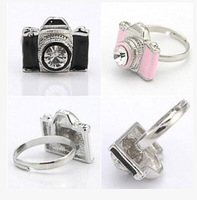 Fashion jewelry camera finger ring cute gift for women girl wholesale R4083 8g Min order is $10(mix order)