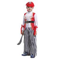 Masquerade costume child pirate clothes child skull hat pirate clothes