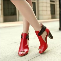 In the summer of 2014 the new sandals, thick with peep-toe fish mouth han edition tide shoes for women's shoe