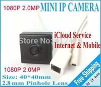 New 2.0 megapixel mini pinhole poe ip camera 1080p