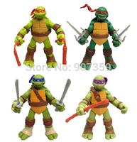 Teenage Mutant Ninja Turtles Action Figure Toys Classic Cartoon Toy Dolls 4.7inch 4pcs/set 600pcs=150sets