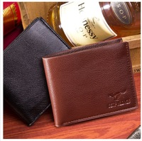 Hot sales 2014 men wallets male money purse Wallets famous brand genuine leather  wallet 100% Cowhide Man Wallet With Coin Bag