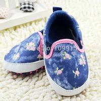 Newborn Baby Girls Boy Shoe Floral Print Pre-Walker Shoes Toddler Crib Shoes