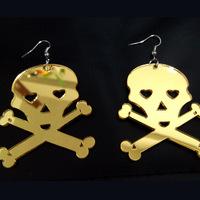 Large acrylic skull earrings fashion earring
