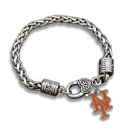 Vintage Link Chain Charm Bracelet New York Mets Team Logo Pendant Free Shipping