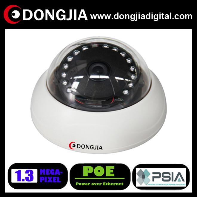 DONGJIA QA-IP6131HD-POE indoor ir 1.3mp onvif android dome 960p hd ip camera china factory hs code new products 2014 camera lens(China (Mainland))
