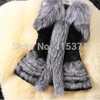 New Arrival European Fashion Design Faux Fur Plus Size Vest Coat For Women Winter Jacket Fur Vest For Female Clothing