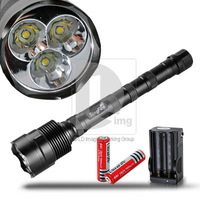 Portable SingFire 3* CREE XML-T6 3800LM LED Flashlight Torch 5-Modes + 2* 3000mAh Rechargeable 18650 Batteries+Battery Charger