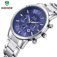 New Weide Men's Waist Watch Brand Fashion Watch Calendar Quartz Analog Movement Casual Aviation Dial