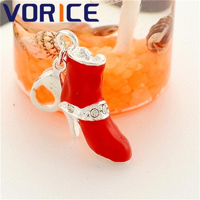 novo design elegante diy pequeno pingente charme elegante vermelho individualidade alta- de salto(China (Mainland))
