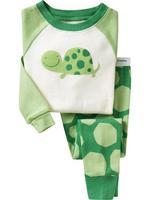 Factory Direct Sales New Kids Baby Boys&Girls Casual Cartoon Tortoise Long Sleeve Pajamas Sets Cotton Children Bathrobe Clothes