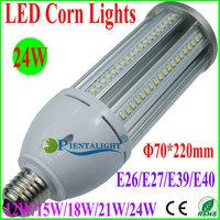 10pcs 24W LED Corn Light, Epistar SMD2835, Canopy/Flood/Supermarket/Post Top/Tunnel Lamp, E26/E27/E39/E40, Warm/Pure/Cold White