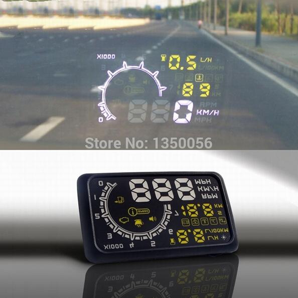 W02 Car HUD Projector Head Up Display OBD II HUD car styling 5.5 Inch Comprehensive Display car alarm system car detector New(China (Mainland))