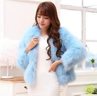 2014 new imitation fox fur coat winter fur short paragraph fur coat warm