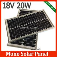 20W 18V monocrystalline silicon Solar Panel used for 12V photovoltaic power home system, 20Watt 20WP 12VDC PV mono solar Module