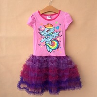 free shipping  2014 new girl's my little pony princess dresses,children's short-sleeve dresses