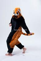 Animal Cosplay Coon Cos Pajamas Adult Women Men Flannel fleece hoodie Onesie Party Costume christmas Halloween sleepwear Dresses
