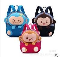 Free shipping 2014 new cartoon style children's schoolbags cheap baby & kids kindergarten bags cute girls & boys soft backpacks