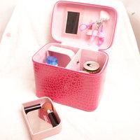 Big capacity travel cosmetics storage bag cosmetic bag waterproof faux leather cosmetics case portable hard  K098