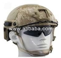 fast Kevlar bulletproof helmet in US Standard NIJ IIIA lever helmet