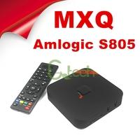 (5pcs/lot) MXQ Amlogic S805 Quad Core android 4.4 TV BOX 4K 1GB RAM 8GB XBMC WIFI Airplay Miracast 3D MXQ tv box With Bluetooth