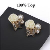 Min Order 9$! Fashion Butterfly Love Resin Flower Stud Earrings Jewelry for Women