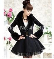 New Arrival European Fashion High Quality Turn Down Collar Temperament Thicken Winter Wool Coat Women Winter Woolen Outwear