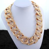 Fashion design female short metal chain necklace accessories large necklace accessories