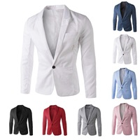 New Arrival Hot Fashion Plus size Wild Candy Color Stylish Slim Fit Men's Suit Jacket Casual Business Dress Blazers