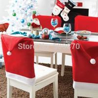 Wholesale 300pcs/lot Christmas Chair Covers decorations for home, merry cristmas adornos navidad