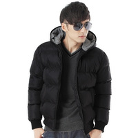 New Style Fashion Men Down Jackets Thick Hooded Winter Coat Warm Clothes High Quality Free Shipping MD003