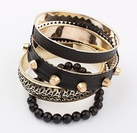 2014 new fashion classic bracelet Exaggerated retro punk fashion star bracelet Multilayer Bracelet Factory Direct