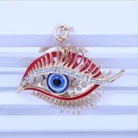 Luxury car KEYCHAIN WHOLESALE creative gift beautiful eyes Keychain metal key pendant customization
