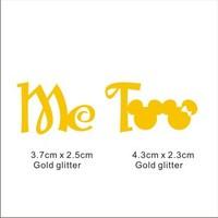 Popular glitter Shoe Sticker for Wedding Shoes -Me Too gold glitter Shoe Sticker