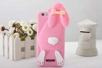 Silicone for iPhone 6 shell Wholesale, Buck teeth rabbit  Mobile protective shell / Phone case 7 color