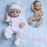 16 Inch Full Vinyl Girl Baby Doll Lifelike Hobbies Handmade Realistic Princess Dolls for Girls Toys