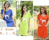 New Summer Style Woman pajama dress Lovely dog prints sleepshirt top quality soft comfortable cotton modal nightgown