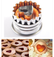 Heart-shaped  form a single card  spring type  embossing cake mold Cookies Mould cut fruits and vegetables FREE SHIPPING G128